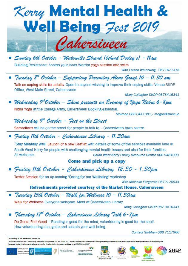 Cahersiveen calendar of events